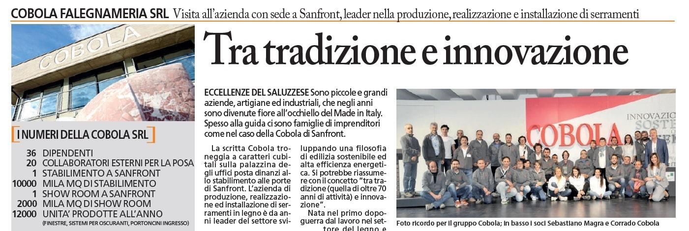 2021-01-28 - Copertina - Il Corriere di Saluzzo - Pagina intera dedicata