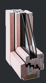 Serie 100 E - Icona - Serramento in legno lamellare
