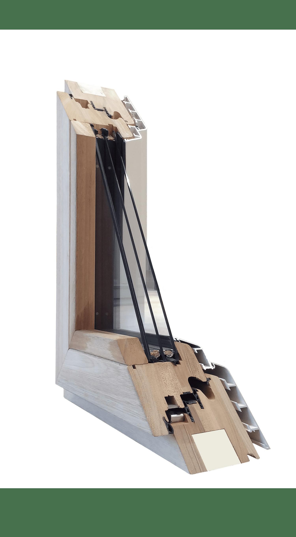 Serie 125 Excel - Icona - Serramento in legno lamellare rivestito di alluminio