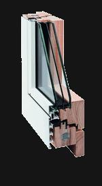 Serie 90 - Icona - Serramento in legno lamellare rivestito di alluminio