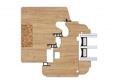 Serramenti in legno - Profilo Serie 100 - Barolo - Cobola