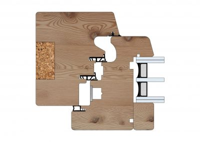 Serramenti in legno - Profilo Serie 100 - Energy Plus - Cobola