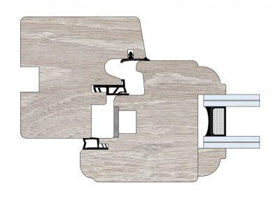 Serramenti in legno - Profilo Serie 70 - Barolo - Cobola