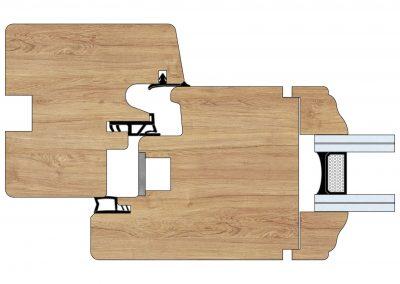 Serramenti in legno - Profilo Serie 70 - Epoca - Cobola