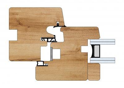 Serramenti in legno - Profilo Serie 70 - Quality - Cobola