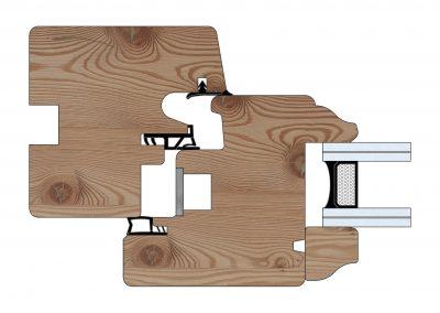 Serramenti in legno - Profilo Serie 70 - Storico - Cobola