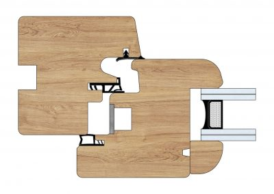 Serramenti in legno - Profilo Serie 70 - Tondo - Cobola