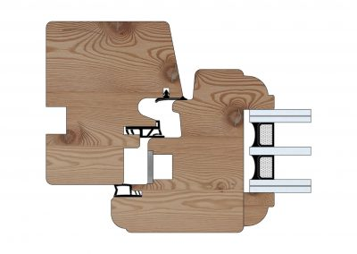 Serramenti in legno - Profilo Serie 80 - Barolo - Cobola