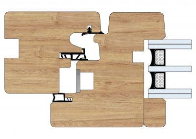 Serramenti in legno - Profilo Serie 80 - Complanare - Cobola