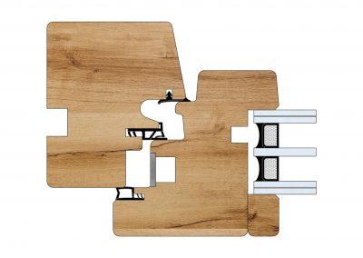 Serramenti in legno - Profilo Serie 80 - Energy - Cobola