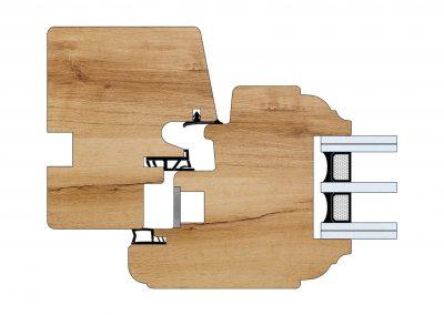 Serramenti in legno - Profilo Serie 80 - Savoia - Cobola