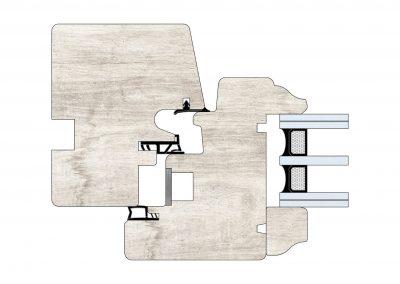 Serramenti in legno - Profilo Serie 80 - Storico - Cobola