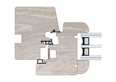 Serramenti in legno - Profilo Serie 80 - Tondo - Cobola