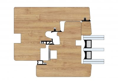 Serramenti in legno - Profilo Serie 80 - Zero - Cobola