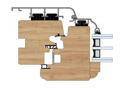 Serramenti in legno-alluminio - Profilo Serie 101 - Barolo - Cobola