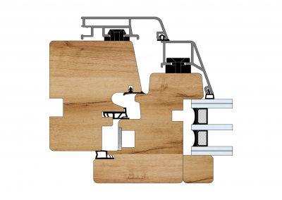 Serramenti in legno-alluminio - Profilo Serie 101 - Diagonal - Cobola
