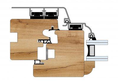 Serramenti in legno-alluminio - Profilo Serie 90 - Barolo - Cobola