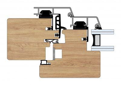 Serramenti in legno-alluminio - Profilo Serie 90 - Diagonal - Cobola