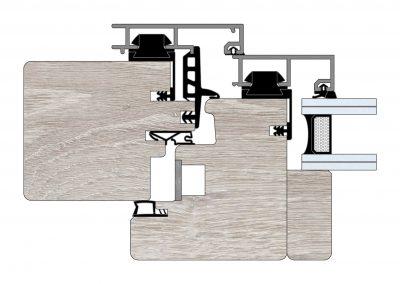 Serramenti in legno-alluminio - Profilo Serie 90 - Quadro - Cobola