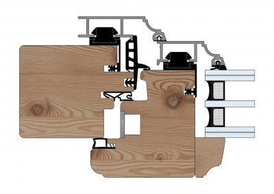 Serramenti in legno-alluminio - Profilo Serie 90 - Storico - Cobola