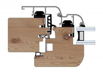 Serramenti in legno-alluminio - Profilo Serie 90 - Tondo - Cobola