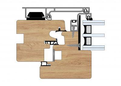 Serramenti in legno-alluminio - Profilo Serie 90 - Zero - Cobola